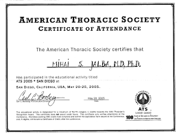 my american credentials  certificate of attendance