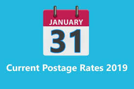 First Class Mail Rate Chart Current Us Postage Rates 2019 Details Usps Rate With Table