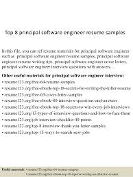 Resume Software Engineer Top 8 Principal Software Engineer Resume Samples