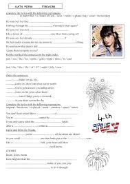 Worksheet: Firework by Katy Perry