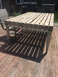 repurposed pallet patio coffee table