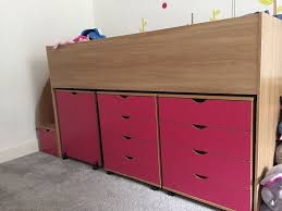 cabin bed with storage. Exellent Storage Cabin Bed With Storage Steps Drawers Table And Book Shelf SOLD In With Storage C