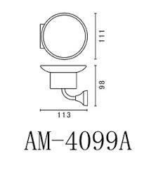 <b>Мыльница</b> настенная <b>Art & Max Ovale AM</b>-<b>E</b>-<b>4099A</b> хром