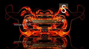 lamborghini diablo fire car