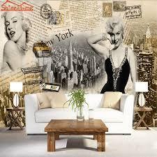 Marilyn Monroe Wallpaper For Bedroom Sexy Goddess Superstar Marilyn Monroe Newspaper Classical 3d