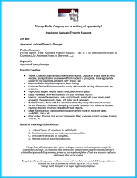 Writing A Great Assistant Property Manager Resume Resumes For