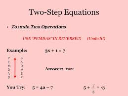 7 two step equations