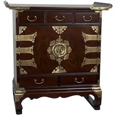 asian style furniture. Korean Antique Style 5 Drawer End Table Cabinet :: Asian Furniture Oriental-Decor.com