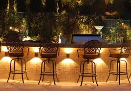 outdoor kitchen lighting. Outstanding Outdoor Bar Design With Several Beautiful Motives Of Back Chairs Facing Lighting Ideas Below Kitchen A