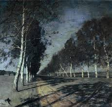 moonlit night a village