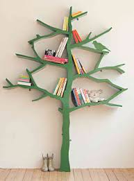 tree bookcase tree bookshelf nursery  doherty house  tree