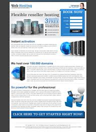 best landing page designs 2013 to capture leads conversion professional web hosting landing page design example to promote your hosting service and special offer