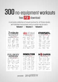 Free Hand Workout Chart No Equipment Workout Collections