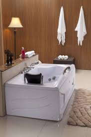 new 1 person jetted whirlpool massage hydrotherapy bathtub tub indoor white