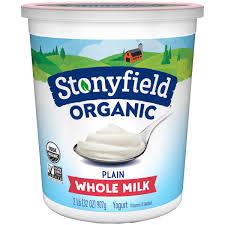 stonyfield organic smooth creamy whole milk plain yogurt 32 oz tub walmart