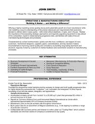 Executive Resume Writing Operations Executive Resume Sample Template