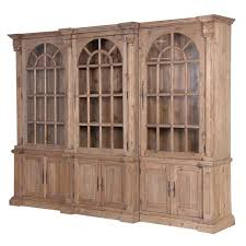 colonial reclaimed pine triple bookcase