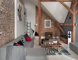 Office Attic Converted Into Loft Apartment Keeping Original Wood - Loft apartment brick