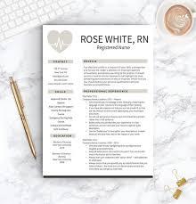 Nurse Resume Template Free Cover Letter Nurse Resume Nurse Cv One Two Page Resume Templates Nursing Resume Instant Download