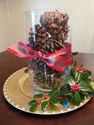 Pine Cone Wedding Table Decorations Stunning Christmas Table With Red White Cloths And Arranged Plate