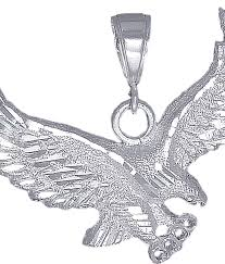 sterling silver eagle charm pendant