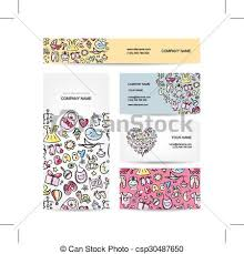 Business Cards Design Baby Toys Vector Illustration