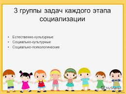 Презентация на тему Влияние народной игры на развитие и  9 3 группы задач каждого этапа социализации Естественно культурные Социально культурные Социально психологические
