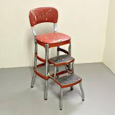 cosco retro black chair with step stool amberyin decors bold rh amberyin com cosco kitchen step stool with fold out steps retro kitchen stool with fold up