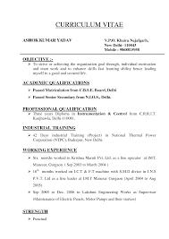 Kinds Of Sample Resume Format Resume Objective Resume Format