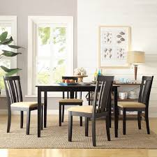 gg baxton studio 5 piece modern dining set 2. tribecca home wilmington black slat back cushioned 5-piece dining set gg baxton studio 5 piece modern 2 -