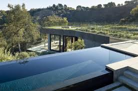 Contemporary Oak Pass House with Infinity Swimming Pool Modern
