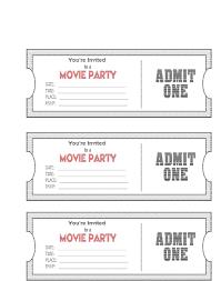Make Free Tickets 037 Template Ideas Movie Ticket Birthday Party Invitation