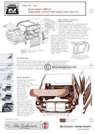 toyota fj cruiser technical illustrations exploded illustrations of the body of a toyota fj cruiser