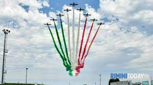 Spettacolo nello spettacolo: le Frecce Tricolori al Gp di Misano  nell'ultima gara italiana di Valentino