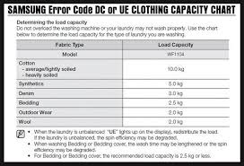 Washing Machine Sizes Chart Samsung Washing Machine Displays Error Code Dc How To
