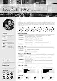 Resume Cv Template Graphics Blackandwhite Bw Icons