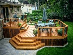 Elevated Deck Ideas Before Made In The Shade Raised Decking Ideas Uk