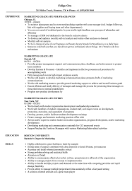 Marketing Experience Resume Marketing Graduate Resume Samples Velvet Jobs