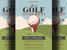 Golf Tournament Flyer Template Golf Tournament Flyer Template By Hotpin On Dribbble