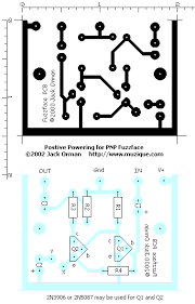 positive power for the pnp fuzzface one thing to be careful about is the connection of the 1k fuzz pot the end not connected to the pc board points x and y must be connected to 9v
