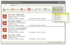 bravo free pdf converter suite