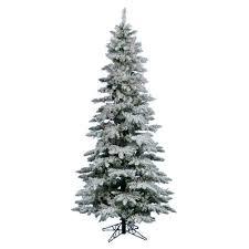 Flocked Christmas Tree Vickerman Flocked Utica Fir Slim Christmas Tree Flocked