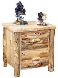 log rustic furniture amish. Amish Log Night Stand With Optional Hidden Compartment. Cabin FurnitureRustic Rustic Furniture