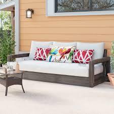 brayden studio constance teak outdoor patio sofa with cushions furniture manufacturer website brayden studio bean