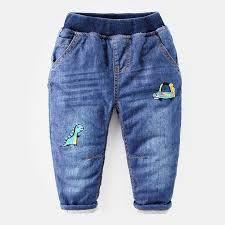 Baby jeans trousers kids children quilted pants boy thick winter ... & Baby jeans trousers kids children quilted pants boy thick winter clothes Adamdwight.com
