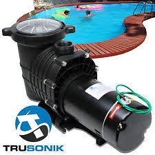 pool pumps new trusonik 2 hp in ground swimming pool pump motor strainer above inground m