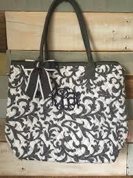 Monogram Tote Bag, Gray Tote Bag, Shoulder Bag, Quilted Tote Bag ... & Monogram Tote Bag, Gray Tote Bag, Shoulder Bag, Quilted Tote Bag,  Personalized Adamdwight.com