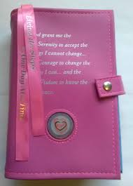 cover and carry both your big book and 12 x 12 together in one pink dual book cover the serenity prayer is inscribed on the front of the aa big book cover