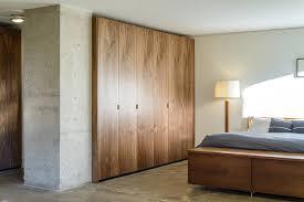 High Quality Walnut IKEA Closet Contemporary Bedroom