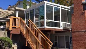 straight eaved glass roof sunroom oakland ca